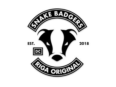 Snake Badgers biker latvia riga brand badger logo