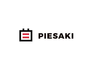 Piesaki booking calendar brand logo sketchapp riga latvia