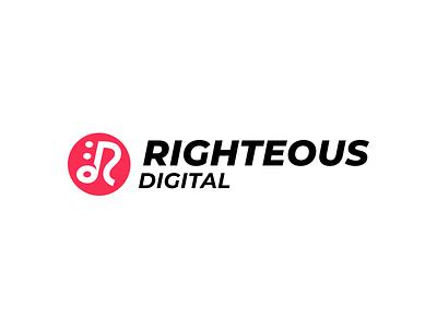 Righteous Digital logotype note music logo sketchapp riga latvia