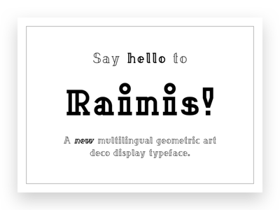 Rainis Font riga latvia asset geometric typography art deco typeface font type