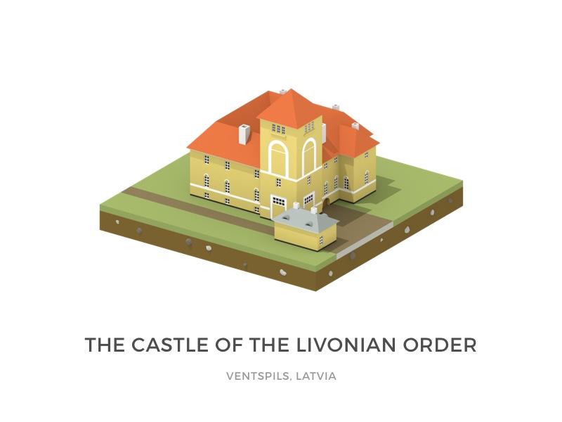 Ventspils Livonian Order Castle ventspils castle render modeling model blender isometric lowpoly design 3dart 3d