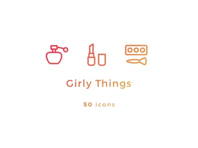 Girly Things Icons