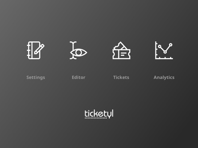 Ticketyl Interface Icons