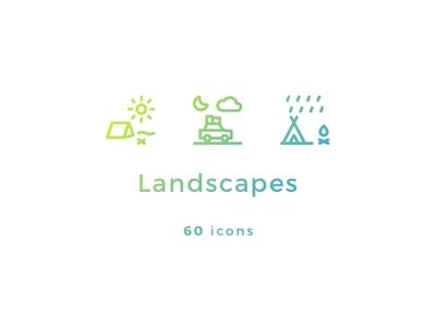 60 Landscapes Icons
