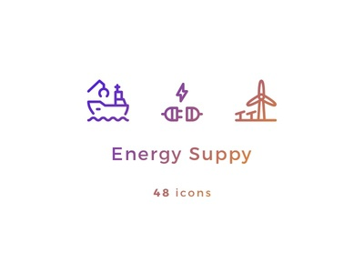 Energy Supply Icons