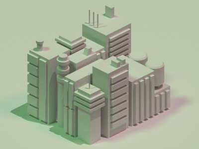Study: City Shapes Render