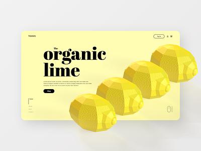 When life gives you lemons - 3D Lemon Web Concept 3d lemons branding clean web ux design ui design ui ux design web design