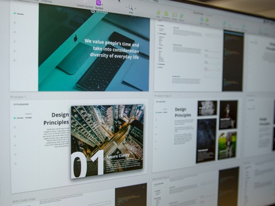 Styleguide [Work in Progress] communication principle product brand styleguide webdesign wip