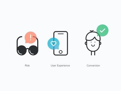 Illustrations face phone glasses webdesign web bubble line icons illustration