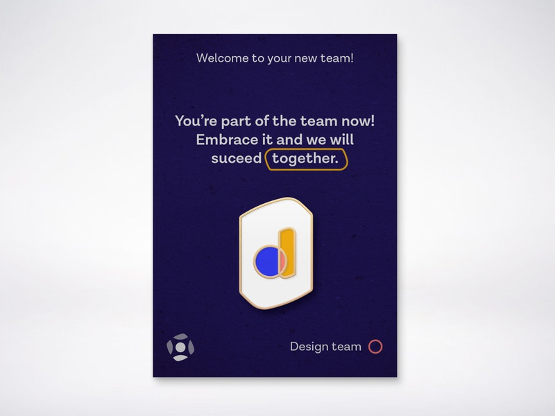 Enamel Pin - Swag contest brand illustration team design hiring hire onboarding blue badge pin enamel