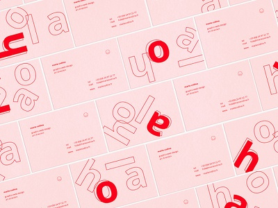 Hola business cards typography letterpress logo branding identity cards business cards