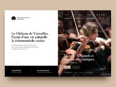 Versailles homepage block minimal calendar reservation desktop fullpage music mondrianism homepage