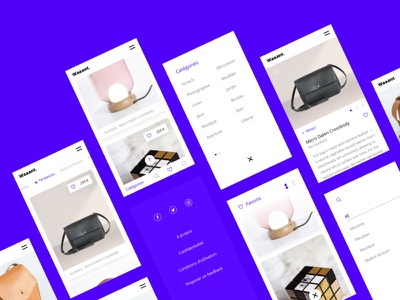 Waaant #2 : mobile workflow ux product minimal app mobile interface eshop ecommerce concept bold