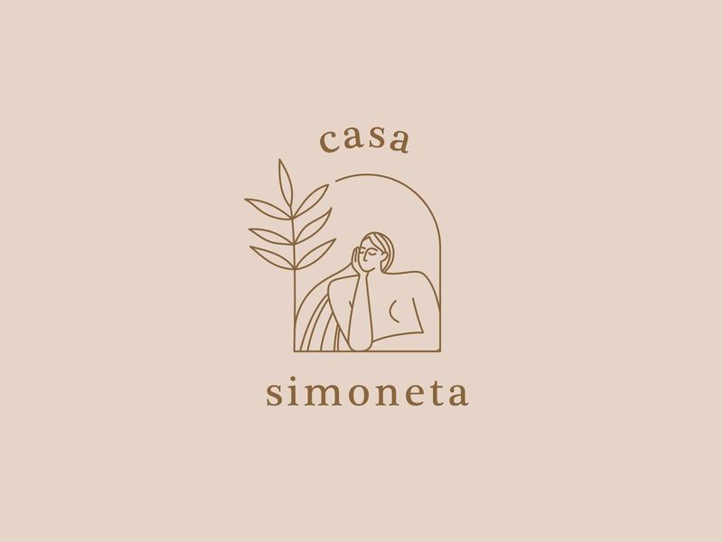 Casa Simoneta —branding typeface geometric brand serif shapes vector minimal illustration font identity branding logo logotype