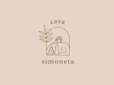 Casa Simoneta ⎥ Logo typeface geometric brand serif shapes vector minimal illustration font identity branding logo logotype