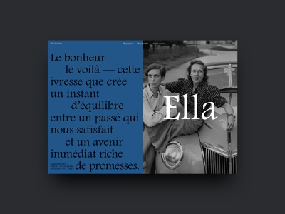 Ella Maillart — Homepage concept landing page homepage design dailyui website concept concept design interaction quotes serif typeface traveler writer product design website web ux ui typography interface concept