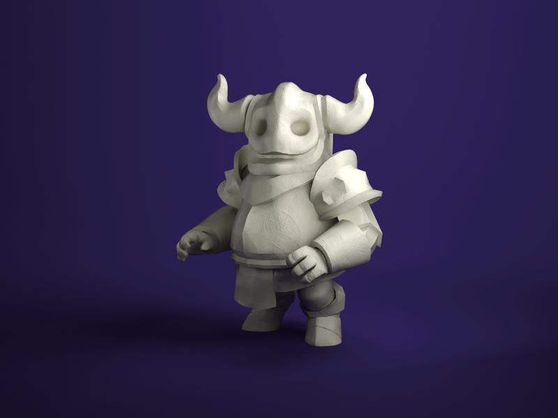 HellKnight (WIP) clay doh knight hell sculpt blender zbrush character