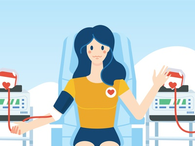 World Blood Donor Day vkontakte vk.com character illustration flat donor blood