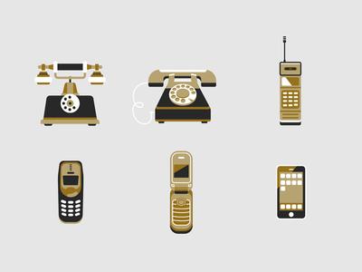 Phone icons icon phone flat