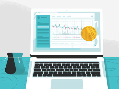 Tokenlend / How's it works money laptop illustration crypto