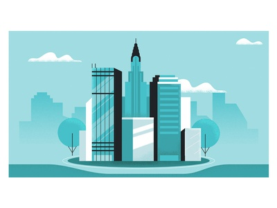 Tokenlend / Invest in Real Estate real estate money city illustration crypto skyscraper building