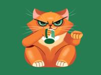 Slurping Cat