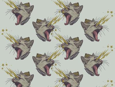 Corona Cat pattern adrk bg light