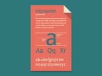 Humanist Fontcard