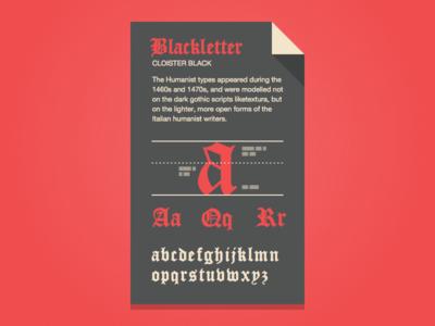 Blackletter Fontcard