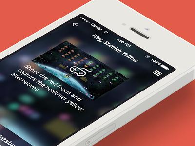 iOS7 app, game screen game ios ux app secret