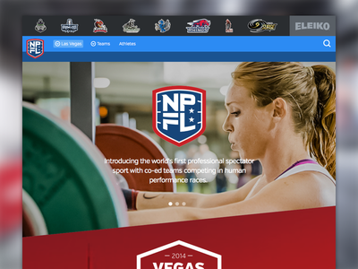 NPGL - Homepage of the Vegas Combine homepage design sports fitness