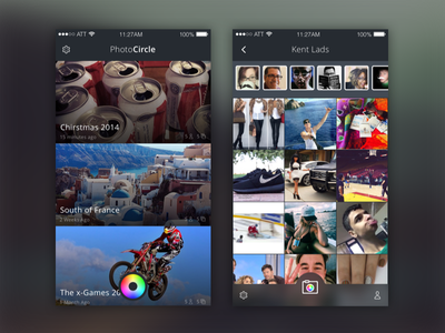 Photocirlce Visual Design ios app photos update