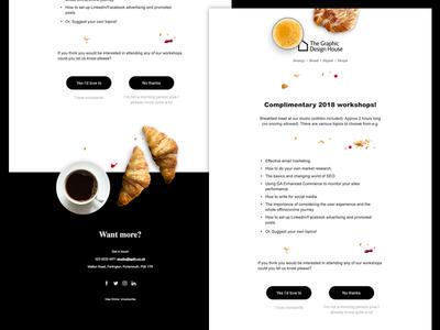 Breakfast workshop emailer design html email html email
