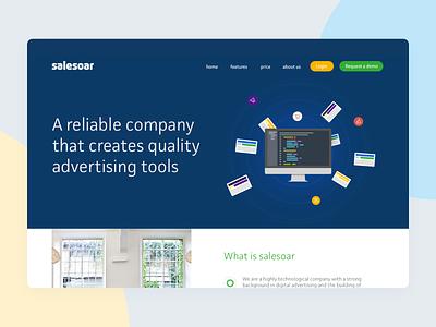 Salesoar Landing landing page web interface logo ui illustration graphic startup design