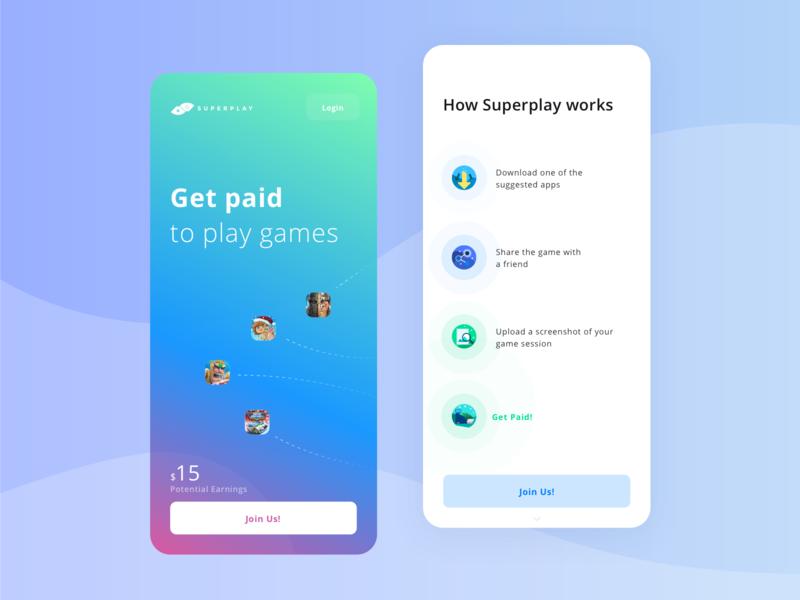 Superplay Mobile interface ux visual design illustrations branding super play mobile games landing page startup webapplication webapp