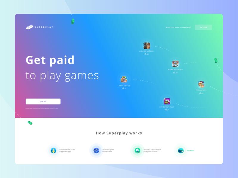 Superplay Desktop games videogame product ux visual mobile web app ui startup desktop website design landing page