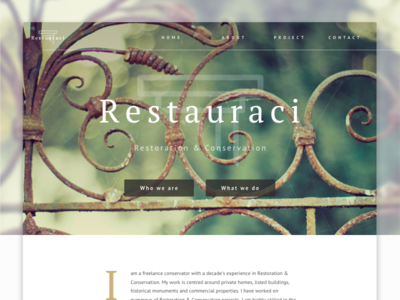 Restauraci Homepage product overview homepage cover features desktop website