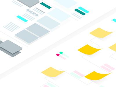 UX and Service Design image illustrator post-it experience user design service ux illustration