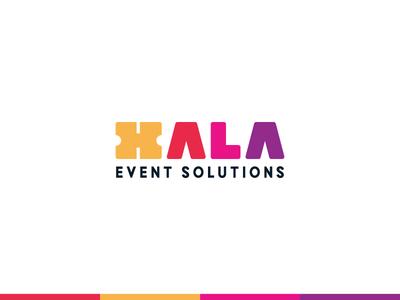 Hala Event Solutions typography minimalist design minimal ticketing ticket events event wordmark lettermark logotype branding brand logo