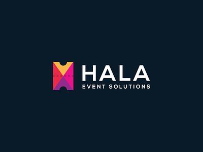 Hala Event Solutions arabian arabic ticketing design solutions color saudi arabia culture ticket event colorful minimal mark symbol brand logo