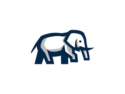 Elephant design branding symbol animal wildlife big clever creative elephant smart mark brand logo