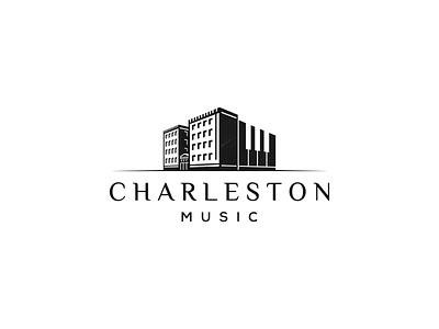 Charleston Music town old music mark logo house home city charleston building brand