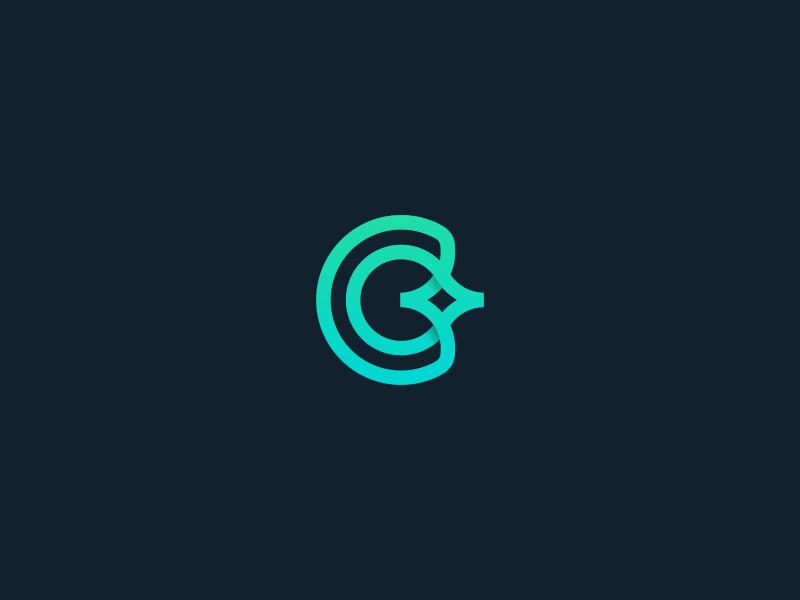 C for clean star symbol clean monogram minimalist minimal logo lettermark c brand alphabet