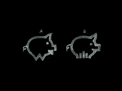 Wiggle sketch smart design mark money monitoring dasboard financial finance save money w logo graph grow piggy pig brand logo