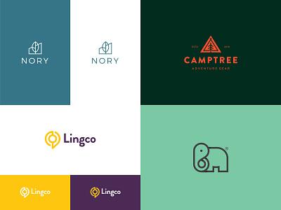 2018 smart minimalist elearning language chat global nature outdoor elephant house home building build tree adventure campy animal mark brand logo