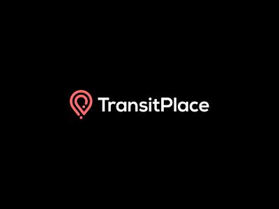 Transit Place design finder find location local map logotype transit place point app pin minimal symbol mark minimalist brand logo