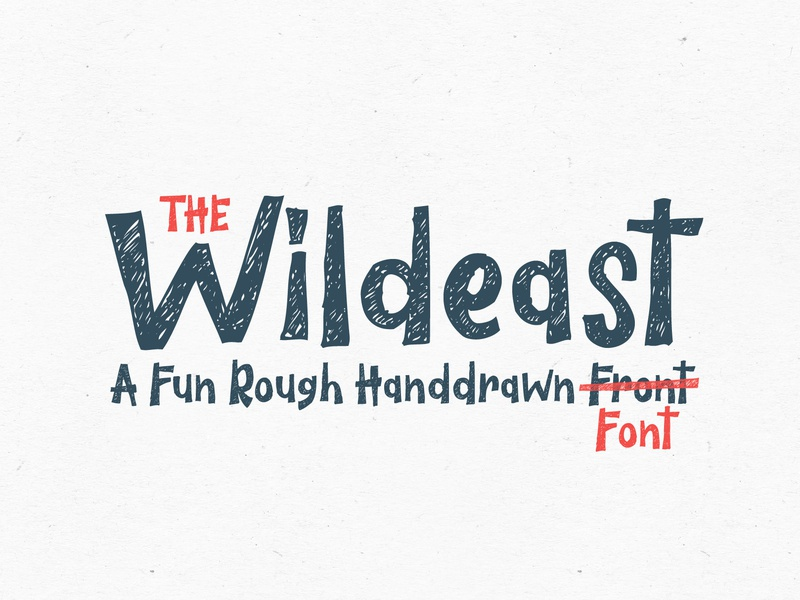The Wildeast Font apparel poster display logo branding clothing quote book cover children kid child unique rough playful handmade hand drawn font fun