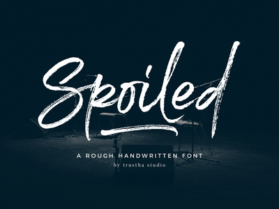 Spoiled Font textured logo magazine book cover design brush quote packaging fashion apparel header marker rough authentic natural script font handwriting handwritten branding