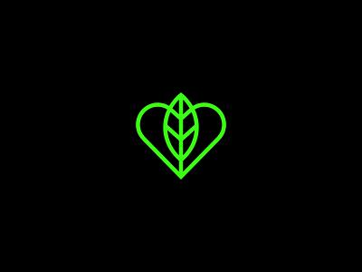 Love Leaf simplicity heart tree music nature leaf love smart minimal symbol mark minimalist brand logo
