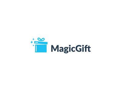 Magic Gift branding stick gift magic design smart minimal symbol mark minimalist brand logo